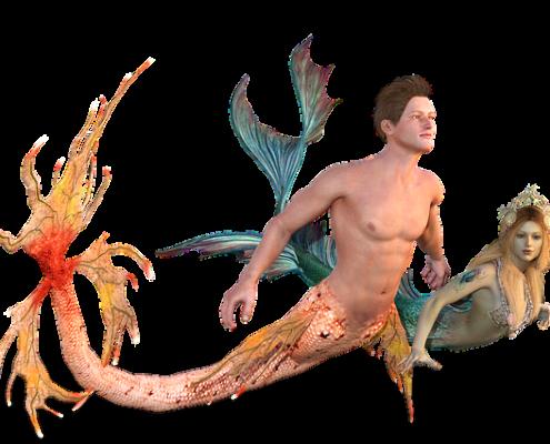 Lua Nova em Peixes - encontro de mermaids